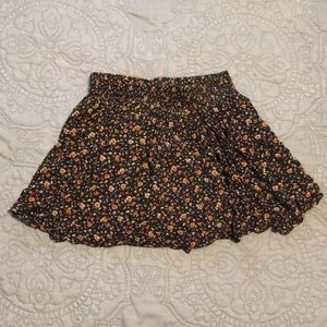 Forever 21 Floral Rose Print Skirt Small
